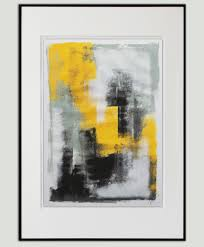 home paintings art prints yellow in black art print