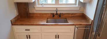 authentic wood countertops