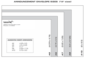 Size Of Envelopes Correspondence And Announcement Envelope Sizes Dimensions