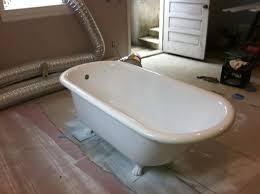 clawfoot cast iron bathtub after refinishing reglazing bathtub refinishing before after bay state