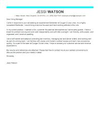 Bartending Resume Templates Awesome Sample Cover Letter For Bartender Resume Best Examples