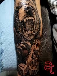 Gambling Bear Tattoo Atka Tattoo
