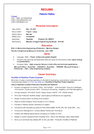 Sample Resume Mechanical Engineer Oil And Gas Best Mechanical