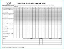 Medication Administration Record Template Medication Administration Record Template Pdf Inspirational