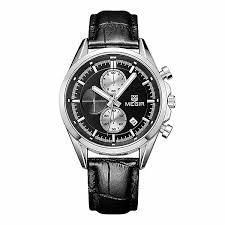 megir 5005 men business casual chronograph calendar leather quartz megir 5005 men business casual chronograph calendar leather quartz watch