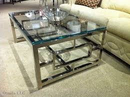 Glass Chrome Coffee Table Design