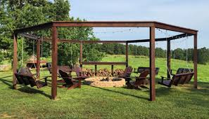 Build Diy Pergola Firepit In Backyard Grab The Plans Hip2behome