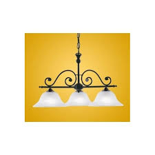 91005 murcia 3 light traditional pendant ceiling light black finish with alabaster white glass shades