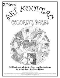 cover art s mac s art nouveau coloring pages