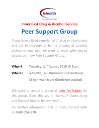 Sharc Inner East Drug And Alcohol Service Peer Support Group