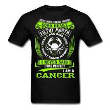 1182 13 De Réductioncancer Zodiaque Signes Drôle Citation Jamais Parfait Hommes T Shirt Dété Manches Courtes Coton T Shirt Mode Hommes