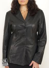 women s paige black leather vg343 women plus sizes exit s blazer well known