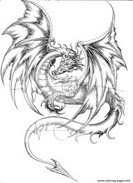 Dragon Coloring Pages For Adults Difficult