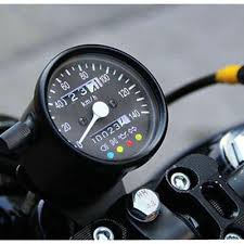 <b>1pc Motorcycle</b> Odometer Speedometer 12V <b>black</b> KMH LED ...