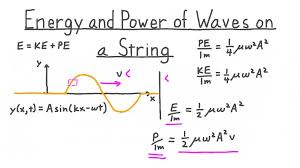 energy and power of a wave on a string