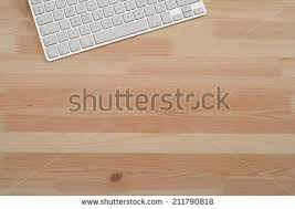 wooden desk top. Brilliant Wooden Office Wooden Desktop Top Down View With Computer Keyboard On Wooden Desk Top A