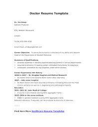Resume How To Write For Doctor Job Physician Templates Template