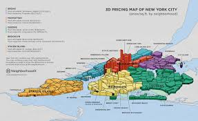 this d map compares nyc real estate prices by neighborhood  news