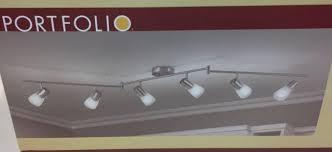 portfolio 17828 002 montgomery 69 6 steel 6 head decorative track light 591707