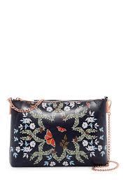 image of ted baker london marissa kyoto gardens leather crossbody bag