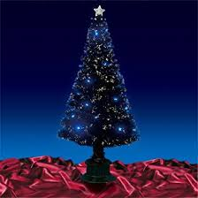 CHRISTMAS TREE  Gorgeous 6ft 180cm Black Fibre Optic Christmas Black Fiber Optic Christmas Tree