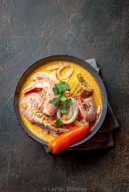 Peruvian seafood soup Chupe de ...