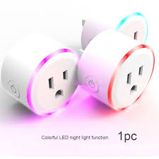 Dimmable Plug In Night Light Wireless Voice Plug Smart Socket Dimmable Night Light Home