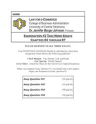 E Business Essay Exam 2019 Ls 4163 Law Of E Commerce Studocu