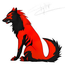 red and black wolf with wings. Brilliant Black Black Red Wolf By Desperatewolfyd4zcfsrpng With Red And Wolf Wings K