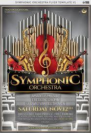 Concert Flyer Templates Free Symphonic Orchestra Flyer Template V1 Orchestra Symphonic