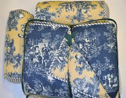 blue toile bedding sets waverly garden room blue toile