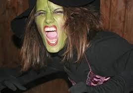 green scary witch makeup