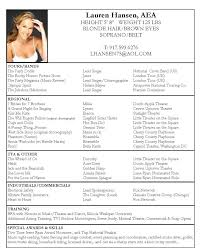 Actors Resume Amazing Acting Resume Template Sample Uaf LuxuryTransportation