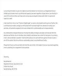 Letter Of Recommendation For Nursing Letter Of Recommendation Recom Letter For Nursing School