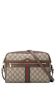 Designer Canvas Crossbody Bag Gucci Ophidia Gg Supreme Canvas Crossbody Bag Beige In