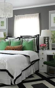 Black And White And Green Bedroom Ideas