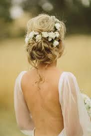 Coiffure Mariage Couronne Fleur Blanche Champêtre