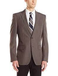 Haggar Mens Travel Performance Heather Check Tailored Fit Suit Separate Coat