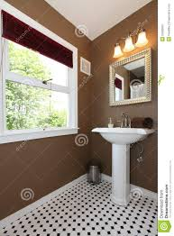 Brown Tiles Bathroom Brown Small Bathroom With Antique Sink And Tiles Stock Image