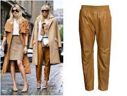 fashion trends fashion find camel leather trousers