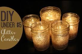 Decorating Jam Jars For Candles DIY Under 100 Festive Glitter Candles YouTube 50