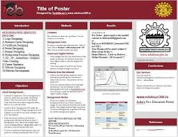 Format For Presentation Of Project Professional Poster Presentation Templates Kamillo Info