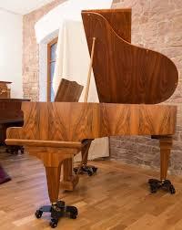 German Parlour Baby Grand Piano 1960s Mid Century Modern Walnut