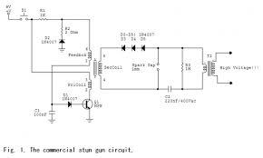 this is a diy simple stun gun circuit schematic energy spiking mosquito killer lamp circuit diagram at Bug Zapper Wiring Diagram