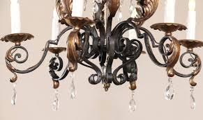 country french painted wrought iron chandelier with crystals at 1stdibs