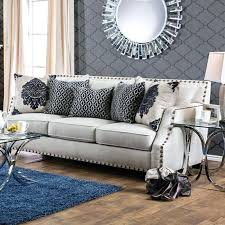 nailhead trim sofa contemporary style trim sofa gray sectional sofa with nailhead trim