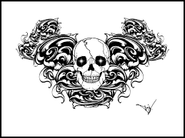 Gothic Skull Design Gothic Skull Tattoo Design
