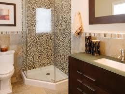 bathroom remodel ideas modern. Bathroom:Tiny Guest Bathroom With Glass Mosaic Tiles On Corner Shower Room Create Remodel Ideas Modern