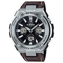 men s watches men s designer watches john lewis buy casio men s g shock chronograph leather strap watch online at johnlewis com