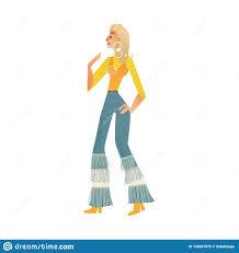 Illustration De Vecteur De Femme De Danse De Disco D